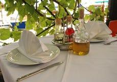 Vector al aire libre del restaurante, Italia Fotografía de archivo libre de regalías