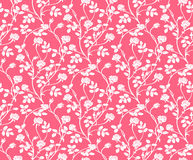 Vector al ilustrador del estampado de plores inconsútil rosado y blanco Imagenes de archivo
