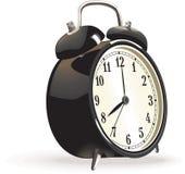 Vector alarm clock. Vintage alarm clock in black color Royalty Free Stock Photos