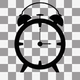 Vector Alarm clock icon on transparent Stock Photography