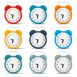 Vector Alarm Clock Set Stock Photo