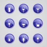 Vector alcohol icons Stock Photo