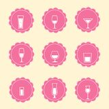 Vector alcohol icons Stock Photos