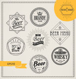 Vector alcohol logos and emblems Stock Photography