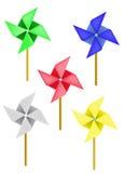 Vector a aleta de tempo em uma forma da flor Foto de Stock