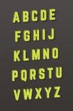 Vector alfabet 3D stijldoopvont Royalty-vrije Stock Foto