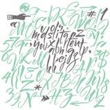 Vector alfabet Hand getrokken brieven Stock Foto