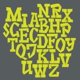 Vector alfabet Hand getrokken brieven Stock Afbeeldingen
