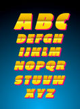 Vector alfabet Retro stijl Royalty-vrije Stock Afbeelding