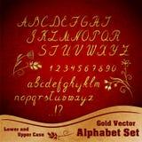 Vector alfabetreeks Stock Foto's