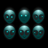 Vector alien faces Royalty Free Stock Photo