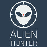 Vector alien hunter on blue background Royalty Free Stock Image