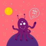 Vector Alien-Octopus. Vector illustration of alien-octopus in space vector illustration