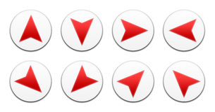 Vector all directions arrows set Stock Photography