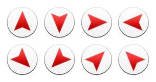 Vector all directions arrows set. Vector buttons arrows set isolated in white ,all directions Stock Photography