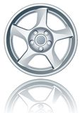 Vector alloy wheel. Stock Images