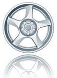 Vector alloy wheel. Vector alloy wheel isolated on white EPS available stock illustration