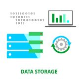 Vector - almacenamiento de datos Imagen de archivo