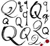 Vector Buchstaben des Alphabetes, das mit einem brus geschrieben wird Lizenzfreie Stockfotografie