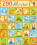 Vector alphabet with animals. Royalty Free Stock Images