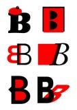 Vector alphabet B logos and icons Royalty Free Stock Photos