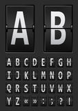 Vector alphabet of black mechanical panel Royalty Free Stock Photography