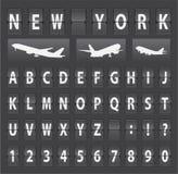 Vector alphabet of black mechanical panel Stock Photography