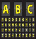 Vector alphabet of black mechanical panel Stock Photo