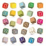 Vector alphabet blocks. Alphabet written with blocks -  illustration Stock Photos
