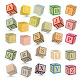 Vector alphabet blocks Royalty Free Stock Photos