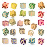 Vector alphabet blocks Royalty Free Stock Photography