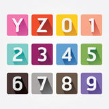 Vector Alphabet colorful Font with Sahdow Style. Stock Image
