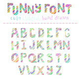 Vector Alphabet. Cute hand drawn alphabet made in vector. ABC for your design. Easy to use and edit letters Stock Illustration