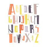 Vector Alphabet. Cute hand drawn alphabet made in . ABC for your design. Easy to use and edit letters royalty free illustration