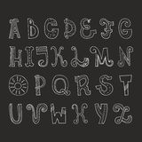 Vector Alphabet. Cute hand drawn alphabet made in vector. ABC for your design. Easy to use and edit letters Royalty Free Stock Image