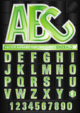 Vector alphabet emerald Royalty Free Stock Photography