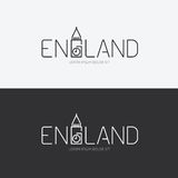 Vector alphabet england design concept with flat sign icon. Royalty Free Stock Image