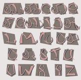 Vector Alphabet Royalty Free Stock Photos