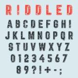 Vector alphabet font Stock Image