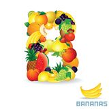 Vector Alphabet From Fruit. Letter B Royalty Free Stock Photos