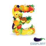 Vector Alphabet From Fruit. Letter E Stock Image