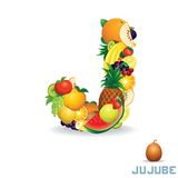 Vector Alphabet From Fruit. Letter J Royalty Free Stock Photography