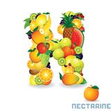 Vector Alphabet From Fruit. Letter N Royalty Free Stock Images