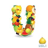 Vector Alphabet From Fruit. Letter U Stock Photography