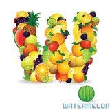 Vector Alphabet From Fruit. Letter W Royalty Free Stock Image
