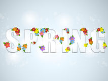 Alphabet Glass Spring with Flowers Royalty Free Stock Photos