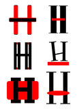 Vector alphabet H logos and icons Stock Images