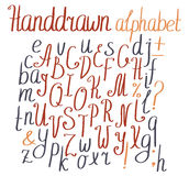 Vector alphabet. Hand-drawn letters. Vector alphabet. Hand drawn letters Royalty Free Stock Photography
