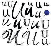 Vector letters of the alphabet written with a brus Stock Image
