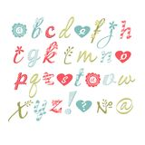 Vector alphabet. Hand drawn letters. Letters of Royalty Free Stock Image